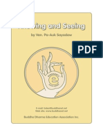 Buddhist Meditation - Knowing and Seeing