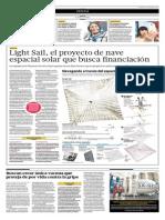 15-05-2015 - El Comercio - Proyecto de Nave Espacial Solar