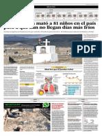 15-05-2015 - El Comercio - Neumonía Ya Ha Matado a Mas de 81 Niños en El País