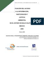Baja California State Assessment Report (Spanish)