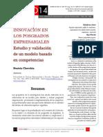 Icono14. Nº14. Innovación en los posgrados empresariales. Estudio y validación de un modelo basado en competencias