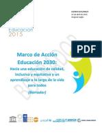 Marco de Acción de la Educación 2030