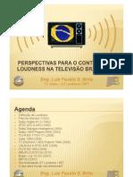 Perspectivas para o Controle de Loudness na Televisão Brasileira