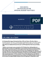 CPD an Analysis of the National Budget for FY2015 Final June