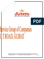 Servise Groups of Industries Internship Report