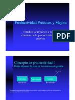 Productividad Procesos y Mejora
