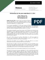 L T - Press Release 30052014
