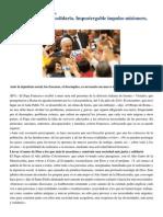 Francisco- Palabras en Visita Pastoral a Isernia 2-5-15 Sociedad Más Justa y Solidaria. Impostergable Impulso Misionero