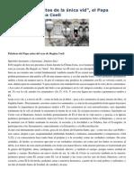 Francisco- Regina Coeli 3-5-15 Somos Sarmientos de La Única Vid