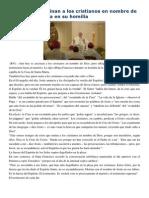 Francisco- Homilía 11-5-15 Aún Hoy Se Asesinan a Los Cristianos en Nombre de Dios