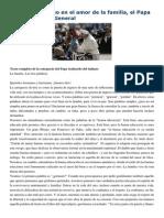Francisco- Audiencia General 13-5-15Puerta de Ingreso en El Amor de La Familia