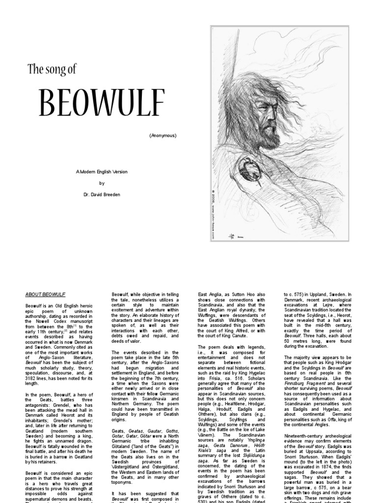 Beowulf: The song of