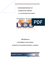Internship Report on Habib Bank Limited