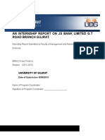 Internship Report on Js Bank Limited