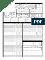 Megaversal PLAYER Sheets