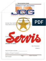 Internship Report of Service Industries Limited
