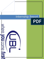 UBL Internship Report