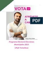Programa Completo Upyd Tomelloso Municipales 2015