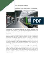 Tren electrico beneficios (noticia)