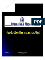 How to Use the Inspector Alert