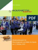 Ausschreibungsunterlagen für Musikwettbewerb in Wolfenbüttel