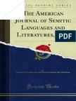 The American Journal of Semitic Languages and Literatures 1884 1000213668