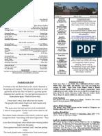 May 17, 2015 Bulletin