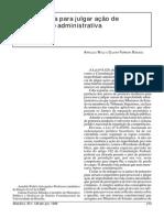 Arndoldo Wald_Competência para julgar ação d improbidade administrativa