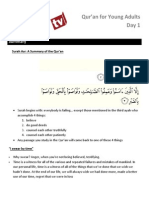 Quran for Young Adults Day 1
