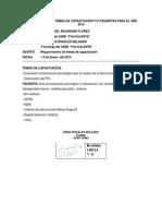 Requerimiento de Temas de Capacitación y