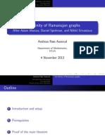 An infinity of Ramanujan graphs