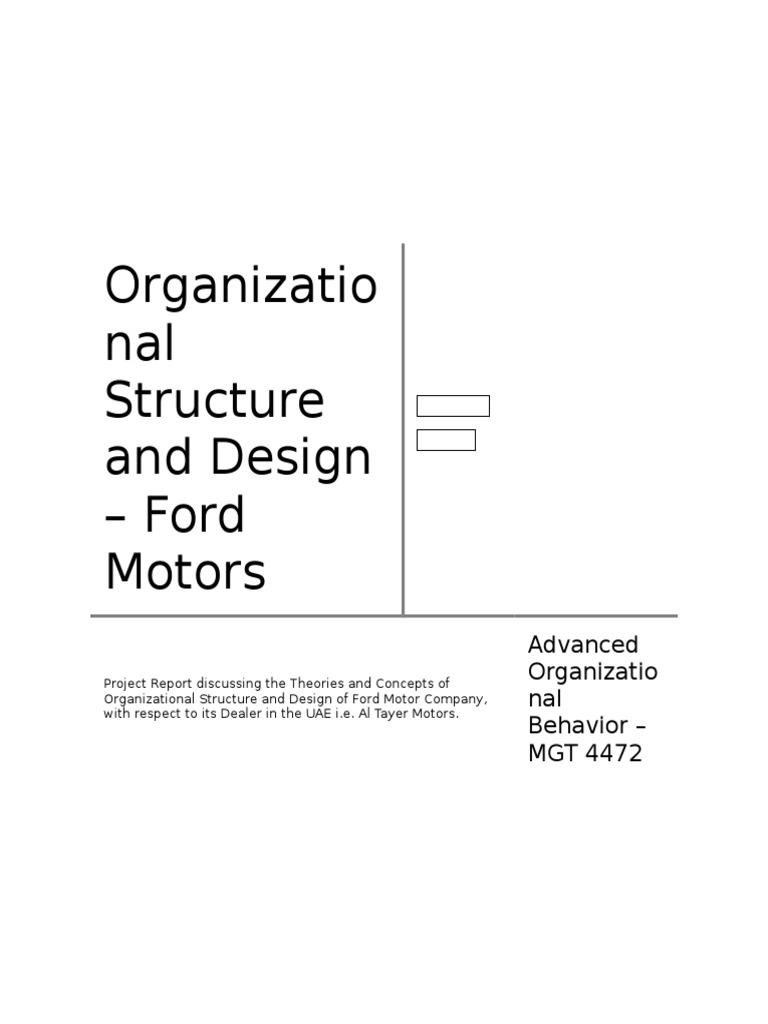 Ford Motor Company Organizational Structure - impremedia.net