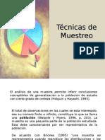 Tecnicas de muestreo y analisis de datos materia de tonis.ppt