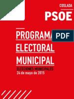 Programa electoral del PSOE Coslada para las Elecciones Municipales del 24 de mayo de 2015