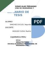 Seminario de Tesis Proyecto de Investigacion