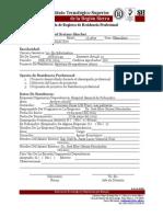Cedula de Solicitud de Residencias Profesionales F-ACA-01 Rv2 181009