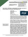 Zvirblis & Buracas (2012). Multiple Criteria Assessment of the Country's Knowledge Economy Determinants