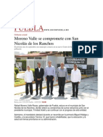 14-05-2015 El Universal - Moreno Valle Se Compromete Con San Nicolás de Los Ranchos