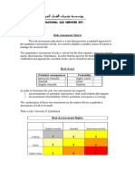 Risk Assessment Matrix( Definition and Notes)