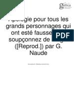 Gabriel Naudé_Apologie Pour Tous Les Grands Personnages (1653)