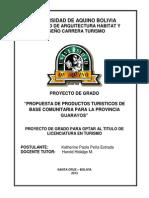 Prod Turisticos Guarayos