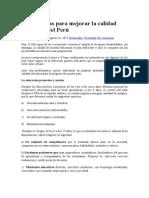 Alternativas Para Mejorar La Calidad Educativa Del Perú