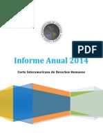 Corte Interamericana de Derechos Humanos - Informe anual 2014