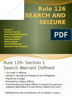 Rule 126 Search and Seizure Report Group 7