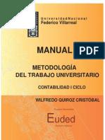Manual de Metodologia Del Trabajo Universitario Euded 2014 Dr Quirozc (1)