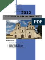 Informe Iglesia San Francisco