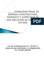 Responsabilidad Penal de Constructora