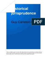 Historical Jurisprudence