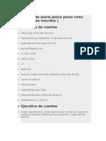 Currículum de Maria Janice Perez Romo VENTAS 1500