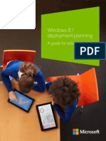 Windows 8.1 Deployment Planning - A Guide for Education